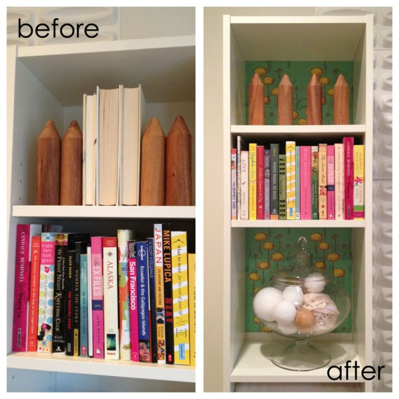 shelf paper before after
