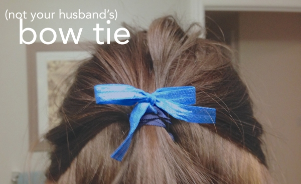hair bow diy jcrew knotted elastic hair tie from Pinkie Up