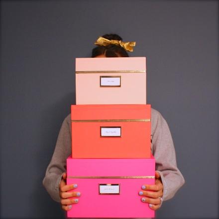 Pinkie Up Kate Spade Boxes